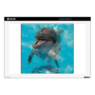 """Smiling Dolphin 17"""" Laptop Decal"""