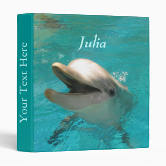 Smiling Dolphin 3 Ring Binder