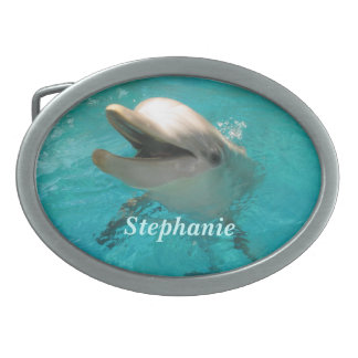 Smiling Dolphin Belt Buckles