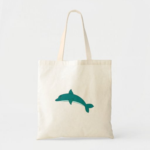 Smiling Dolphin Budget Tote Bag