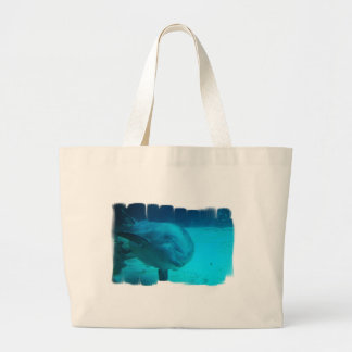 Smiling Dolphin Canvas Bag