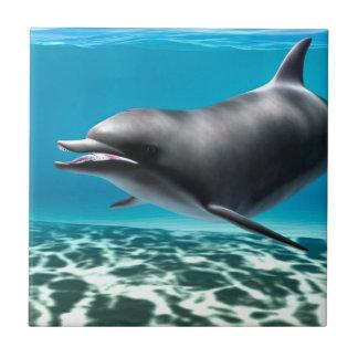 Smiling Dolphin Ceramic Tile