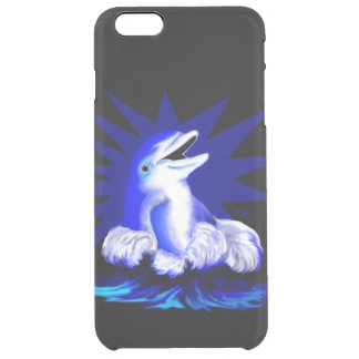 Smiling Dolphin Clear iPhone 6 Plus Case
