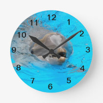 Smiling dolphin clock