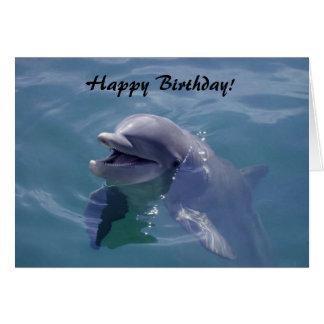 Smiling Dolphin Happy Birthday! Card