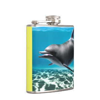 Smiling Dolphin Hip Flask