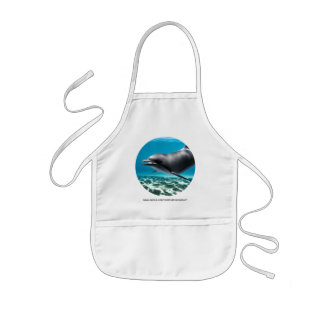 Smiling Dolphin Kids' Apron