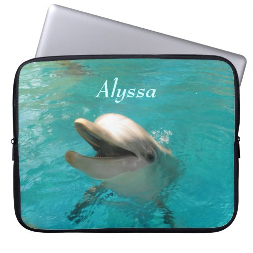 Smiling Dolphin Laptop Sleeves