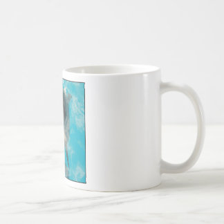 Smiling Dolphin Classic White Coffee Mug