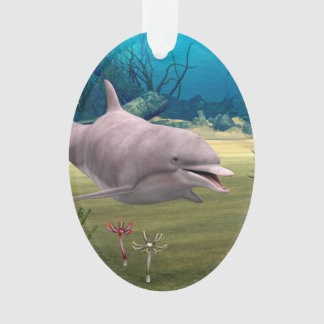 Smiling Dolphin Ornament