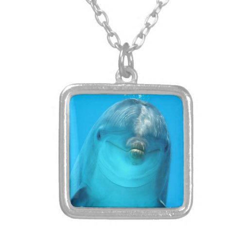 Smiling Dolphin Personalized Necklace
