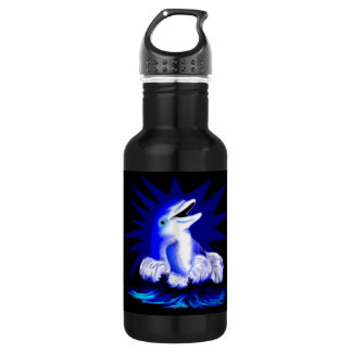 Smiling Dolphin Stainless Steel Water Bottle
