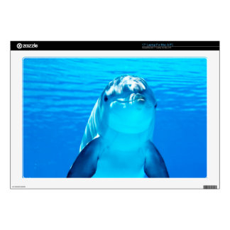"""Smiling Dolphin Underwater Sea Life Decals For 17"""" Laptops"""
