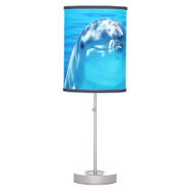 Smiling Dolphin Underwater Sea Life Desk Lamp