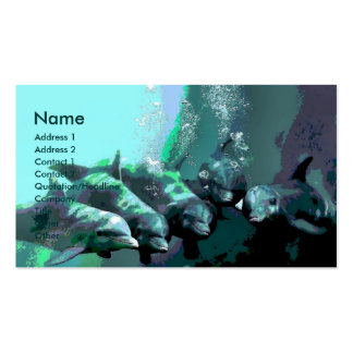 Smiling Dolphins Double-Sided Standard Business Cards (Pack Of 100)