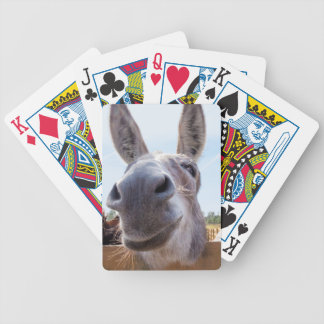 Smiling Donkey Bicycle with Silly Grin on His Face Bicycle Playing Cards