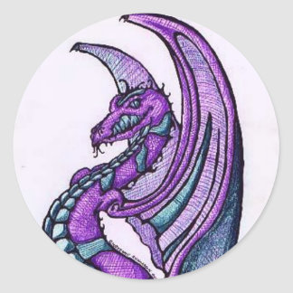 Smiling Dragon Sticker/Envelope Seals
