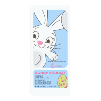 Smiling Easter Bunny Invitation