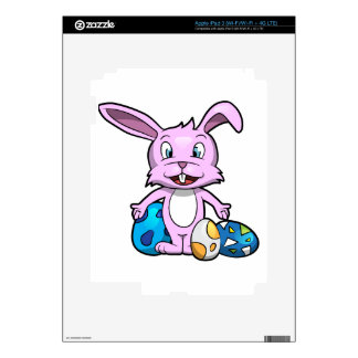 Smiling Easter Bunny iPad 3 Decal