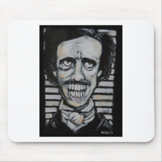 Smiling Edgar Allen Poe Mouse Pad