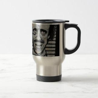 Smiling Edgar Allen Poe Travel Mug