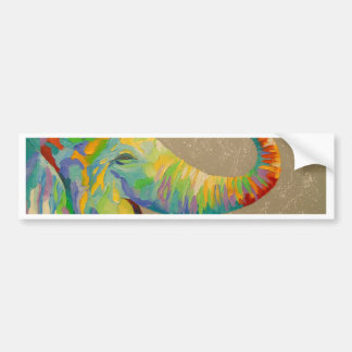 Smiling elephant bumper sticker
