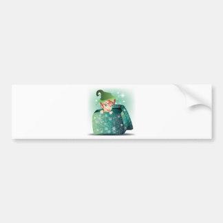 Smiling Elf Car Bumper Sticker