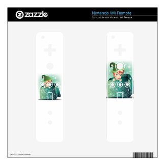Smiling Elf Decals For The Wii Remote