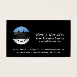 Smiling Estonian Flag Business Card