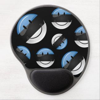 Smiling Estonian Flag Gel Mouse Pad