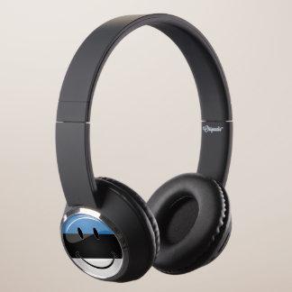 Smiling Estonian Flag Headphones