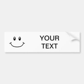 Smiling Expression Bumper Sticker 0001