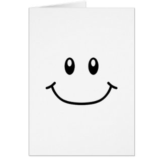 Smiling Expression Card 0001 (Changeable Color)