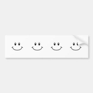 Smiling Expressions Bumper Sticker 0001 Custom