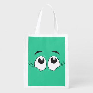 Smiling Eyes Reusable Grocery Bag