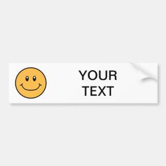 Smiling Face Bumper Sticker Orange 0001