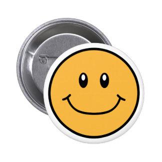 Smiling Face Button Orange 0001