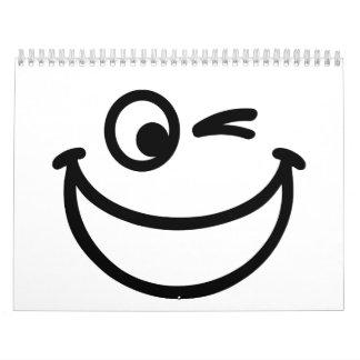 Smiling face calendar