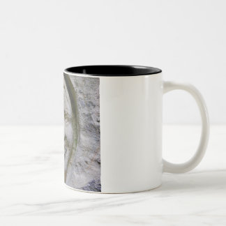 Smiling Face Engraving in Stone Mug