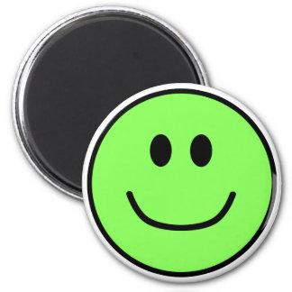 Smiling Face Magnet Green 0002