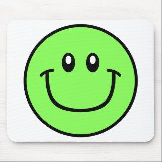 Smiling Face Mousepad Green 0003