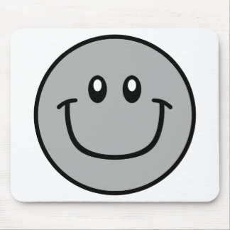 Smiling Face Mousepad Grey 0003