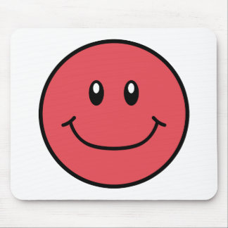 Smiling Face Mousepad Red 0001