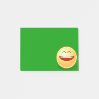 Smiling Face on Green Post It Note