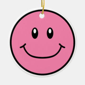 Smiling Face Ornament Pink 0001
