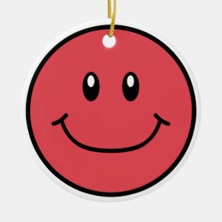 Smiling Face Ornament Red 0001