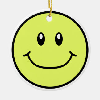 Smiling Face Ornament Yellow 0001