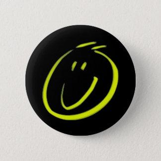 Smiling face pinback button