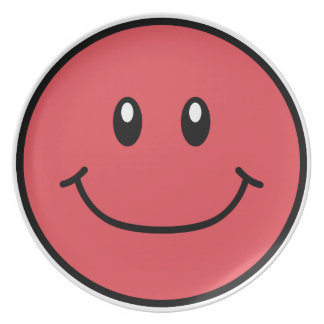 Smiling Face Plate Red 0001