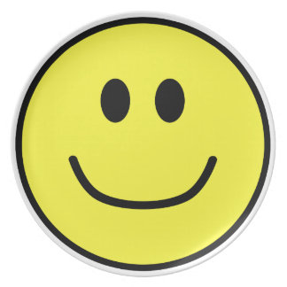 Smiling Face Plate Yellow 0002